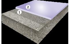 Гладкое цветное эпоксидное покрытие, толщиной 1,5-2,5 мм