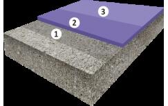 Матовое цветное покрытие, толщиной 1,5-2,5 мм