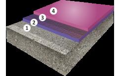 Гладкое высоконаполненное цветное эпоксидное покрытие, толщиной 2,5-4,0 мм