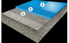 Гладкое цветное покрытие с защитным финишным лаком, толщиной 1,5-2,5 мм.