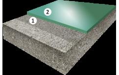 Гладкое цветное полиуретановое покрытие, толщиной 1,5-2,5 мм