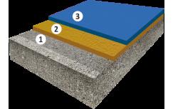 Дезактивируемое эпоксидное покрытие, толщиной 2,0-2,2 мм