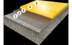 Гладкое высоконаполненное цветное эпоксидное покрытие, толщиной 3,0-5,0 мм