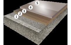 Гладкое высоконаполненное цветное полиуретановое покрытие с защитным лаком, толщиной 2,5-4,0 мм