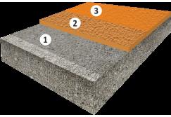 Текстурное высоконаполненное цветное эпоксидное покрытие, толщиной 3,0-5,0 мм