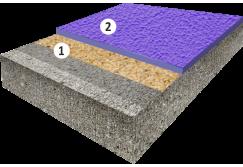 Текстурное цветное эпоксидное покрытие, толщиной 1,5-2,0 мм