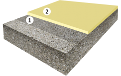 Высоконаполненное полиуретан-цементное покрытие пола, толщиной от 4 мм