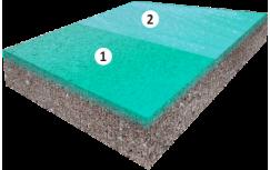 Устройство полов с упрочненным верхним слоем (сухая смесь на цементной основе)